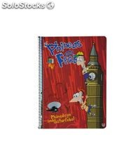 Cuaderno fº 4x4 80h 60grs phineas and ferb unipapel 9278411