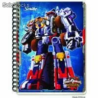 Cuaderno prefesional power rangers