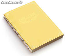 Cuaderno Vintage A5 Chic & Love Yellow