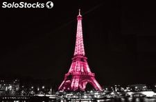 Cuadro cristal eiffel by night 120 x 80 x 0,4 cm