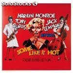 Cuadro pÓster de cine marilyn monroe some like it hot 60 x 60