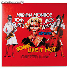 Cuadro Póster de Cine Marilyn Monroe Some Like it hot 60 x 60, ideal para fans