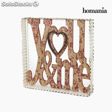 Cuadro you & me de metal by Homania