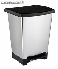 Cubo Reciclaje 2 Compartimentos 25lt Tapa Frontal C/Pedal