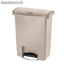 Cubo residuos rubbermaid pedal frontal 30l beige