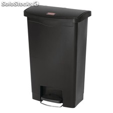 Cubo residuos rubbermaid pedal frontal 50l negro