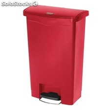 Cubo residuos rubbermaid pedal frontal 50l rojo
