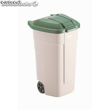 Cubo residuos rubbermaid pedal frontal - 50ltr beige GL027