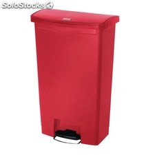 Cubo residuos rubbermaid pedal frontal 68l rojo