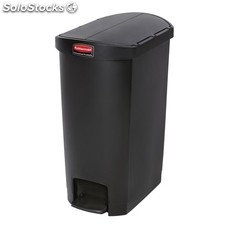 Cubo residuos rubbermaid pedal lateral 50l negro