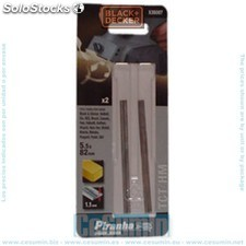 Cuchillas reversibles TCT. Ancho: 82mm. - Black and Decker - Ref: X35