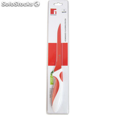 Cuchillo deshuesador 16.5CM ceramico coat red&white - bergner - red and white -
