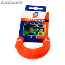 Cuerda de nylon para trimmer 10m x 2,4 mm naranja