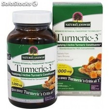 Curcuma-turmeric-3 5.000MG 90 capsulas nature´s answer
