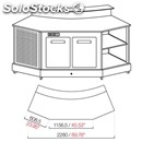 Curved refrigerated counter 45° - semi finished, requires panelling - mod.
