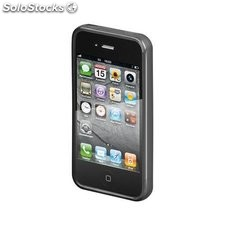 custodia iphone 4/4s soft touch nero case durevole 42873