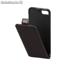 custodia per iphone 5/5s marrone scuro chiusura magnetica staffa clip-in 43421