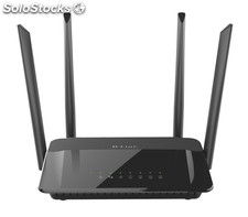 D-link ac1200 dual band dual-band (2.4 ghz / 5 ghz) gigabit ethernet negro
