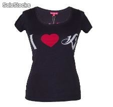 "Daniela Katzenberger t-Shirt ""i love Katze"" 123-t2-06-b-cat Black / 123-t-06-r-c"