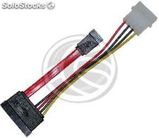Data + sata Power Cable (10cm) (DN24)