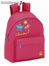 """Day pack benetton pink """"patch"""""""