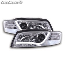 Daylight headlight set audi a4 typ 8e yr. 01-04 chrome
