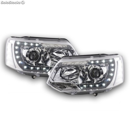 Daylight headlight with daytime running lights vw bus t5 yr. from 2009 chrome