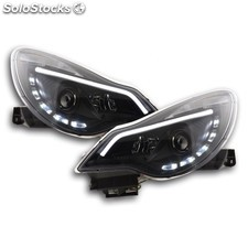 Daylight headlight with drl opel corsa d yr. from 2011 black