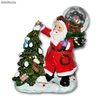 Decoration boule a neige pere noel