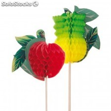Decoration glaces - fruits 20 cm assorti bois