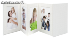 Deknudt Leporello blanco 8x13x13 polipiel 8 fotos A66DC1 8PH