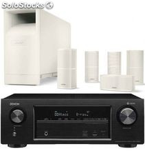Denon avr-X1400 + bose AM10 v white