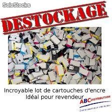 Desctockage Lot cartouches toner hp Lexmark Canon Samsung Brother revendeur