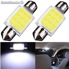 Destacado Led de coche luces intermitentes COB doble puntas 31MM 36MM 39MM 41MM