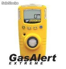 Detector de un solo gas para H2S, co, O2, SO2, PH3, CI2, NH3, NO2, hcn, eto, ClO2, O3, no y Combustibles (lel). GasAlertXt