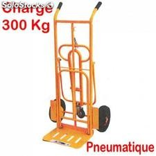 Diable chariot inclinable avec 3 pieds charge 300kg