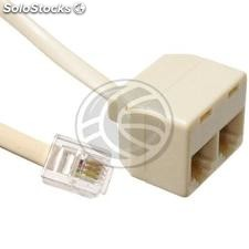 Dial Extension 4-wire cable with RJ11 with doubler 2.1m (RT48)