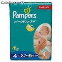 Diapers pampers Active Baby, Maxi Nr. 4, 7-14kg, gp 82pcs