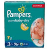 Diapers pampers Active Baby, vp+ Extra Large 44pcs