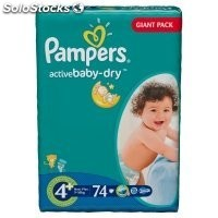 Diapers pampers Active Baby, vp+ Maxi plus 56pcs