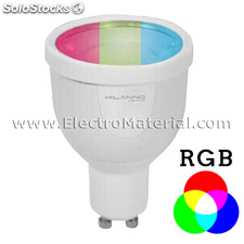 Dicroica led gu10 4w ajustable en color e intensidad