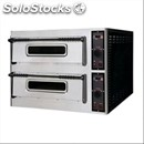 Digital electric pizza oven - mod. trays 44/d - twin deck oven - firebrick oven