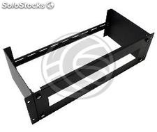 """DIN rail adapter with hole 3U rack enclosure 19 \""""of RackMatic (RZ72-0003)"""
