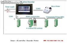 Din rail mounted 4-channel pid temperature controller