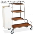 Dirty laundry trolley - mod. 4410 - square tubular stainless steel structure -