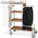Dirty laundry trolley - mod. 4415 - square tubular stainless steel structure -