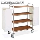 Dirty laundry trolley with veneered chipboard shelves - mod. portabiancheria 2 -