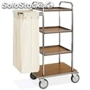 Dirty laundry trolley with veneered chipboard shelves - mod. portabiancheria 3 -