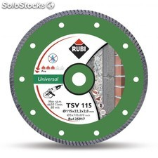 Disco Corte General Obra 115 Mm Diamante Basic Line Tsv 115 Rubi