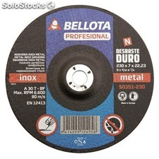 Disco Desbaste Metal 230X7X22 Mm Bellota